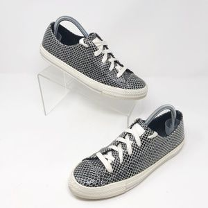 Leather Converse in Black and White          X-605